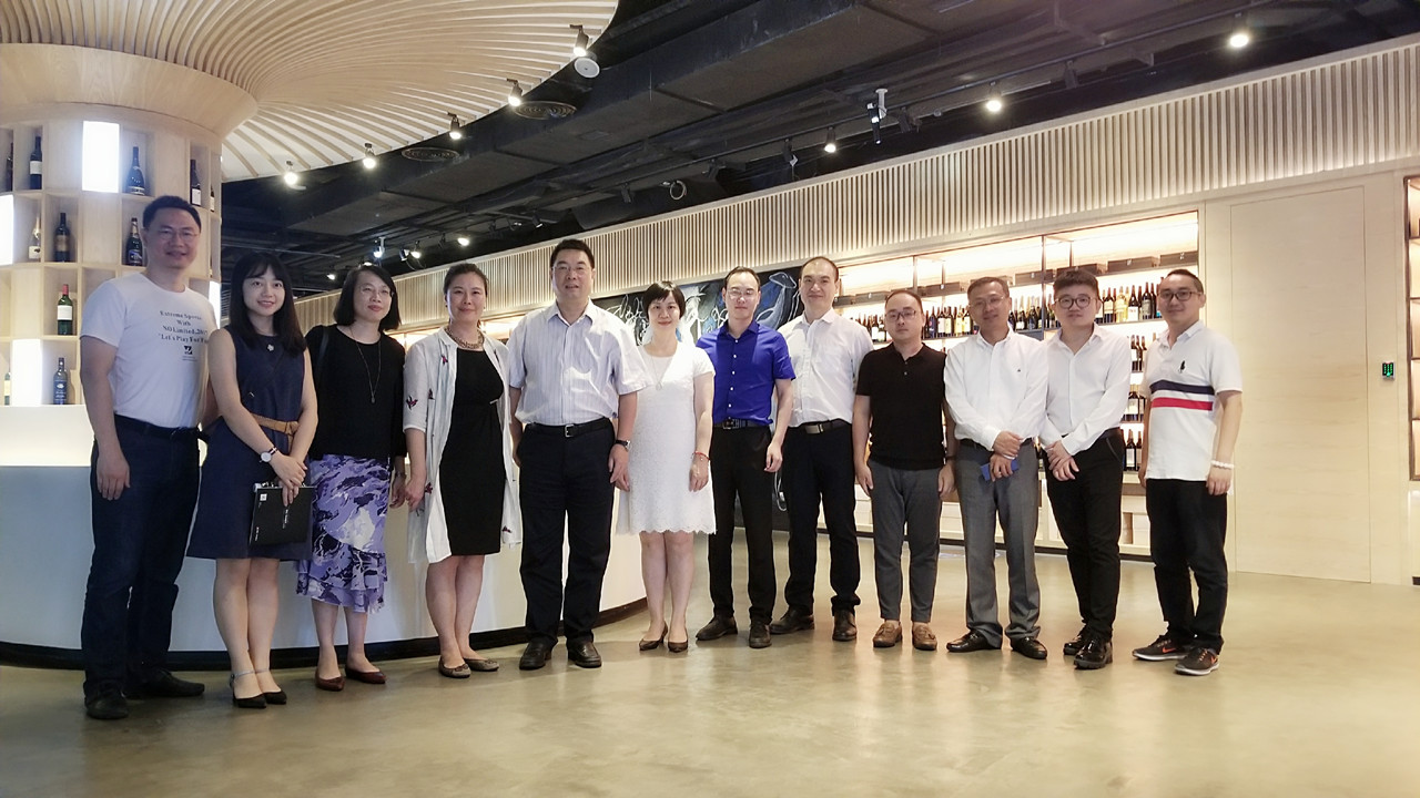 厦门建发集团领导率团赴深圳前海酒加Wine+进行参观交流